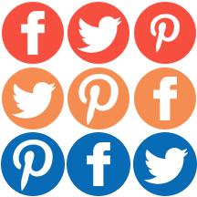 social media pinterest facebook twitter